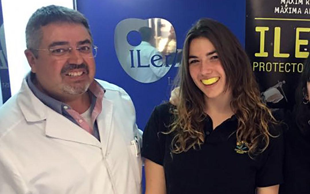 Esther Piñol -selecció catalana sub23- i altres jugadores de l'INEF Rugbi Lleida s'apunten a l'alt rendiment d'ILERPROTECT®